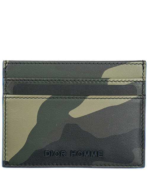 Porta carte di credito Dior 2DDCH001XCI verde