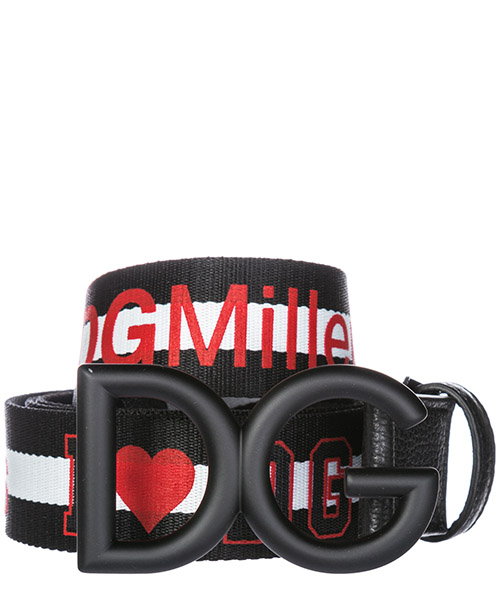 Cintura Dolce&Gabbana Ilovedg BC4251AV3398B438 nero/bianco/nero