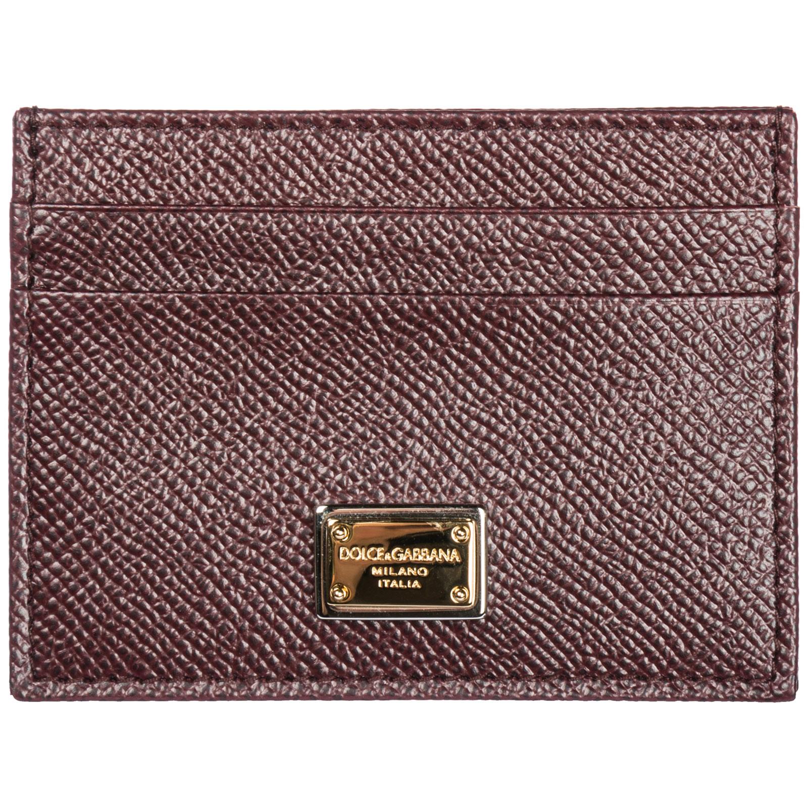4fab819af3c48 Porta carte di credito Dolce Gabbana BI0330A10018H307 vino