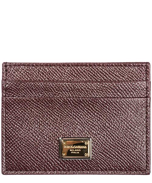Porta carte di credito Dolce&Gabbana BI0330A10018H307 vino