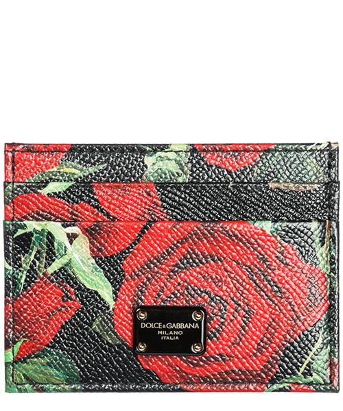 Porta carte di credito Dolce&Gabbana BI0330AV101HNI1S rose rosse
