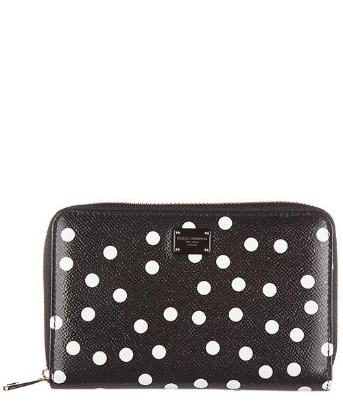Portafoglio Dolce&Gabbana BI0921 AI024 HN86W pois piccolo / nero