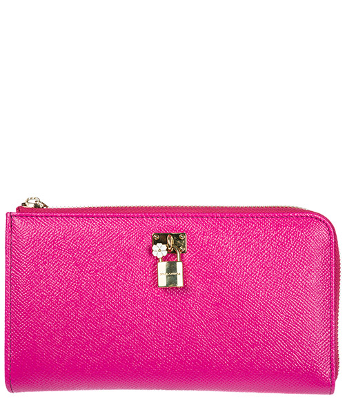 Wallet Dolce&Gabbana BI0922AB4728S257 rosa shocking / nero