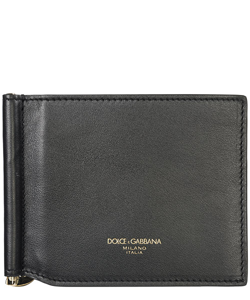 Men's genuine leather money clip wallet
