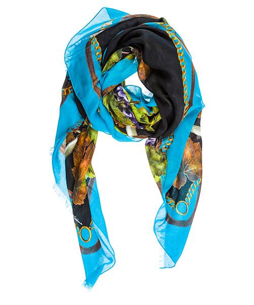 Bufanda de cachemira Dolce&Gabbana FS184AGDG53HNE07 blu