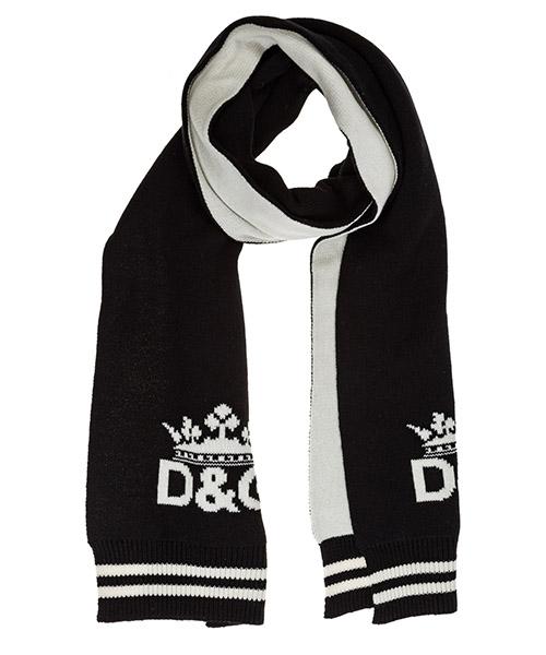Écharpe en cachemire Dolce&Gabbana GX690TJAWOJS9000 nero - bianco