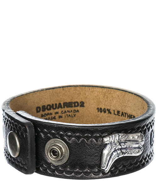 Pulsera Dsquared2 hippie cowboy rodeo boy ARM004520400001M1074 nero palladio vecchio