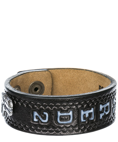 Bracciale braccialetto uomo in pelle hippie cowboy rodeo boy secondary image