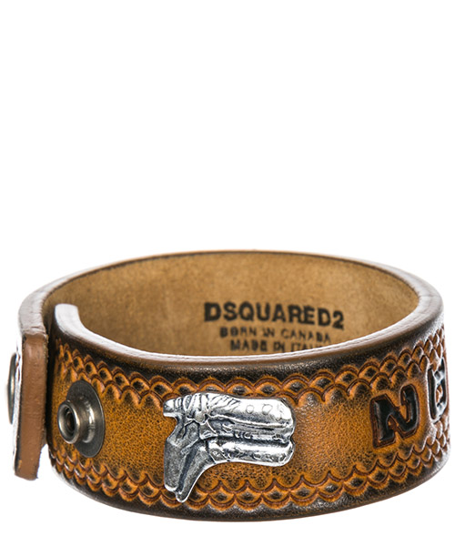 Pulsera Dsquared2 Hippie Cowboy Rodeo Boy ARM004520400001M1404 cuoio + palladio vecchio