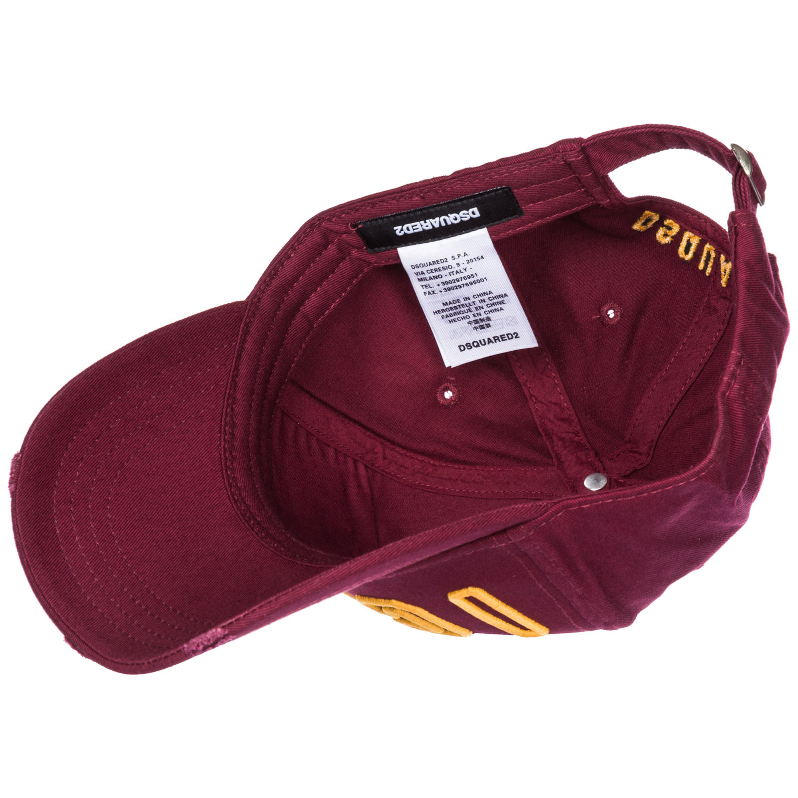 9531e8ee3bdc Casquette baseball Dsquared2 Icon BCM007905C00001M1498 bordeaux ...