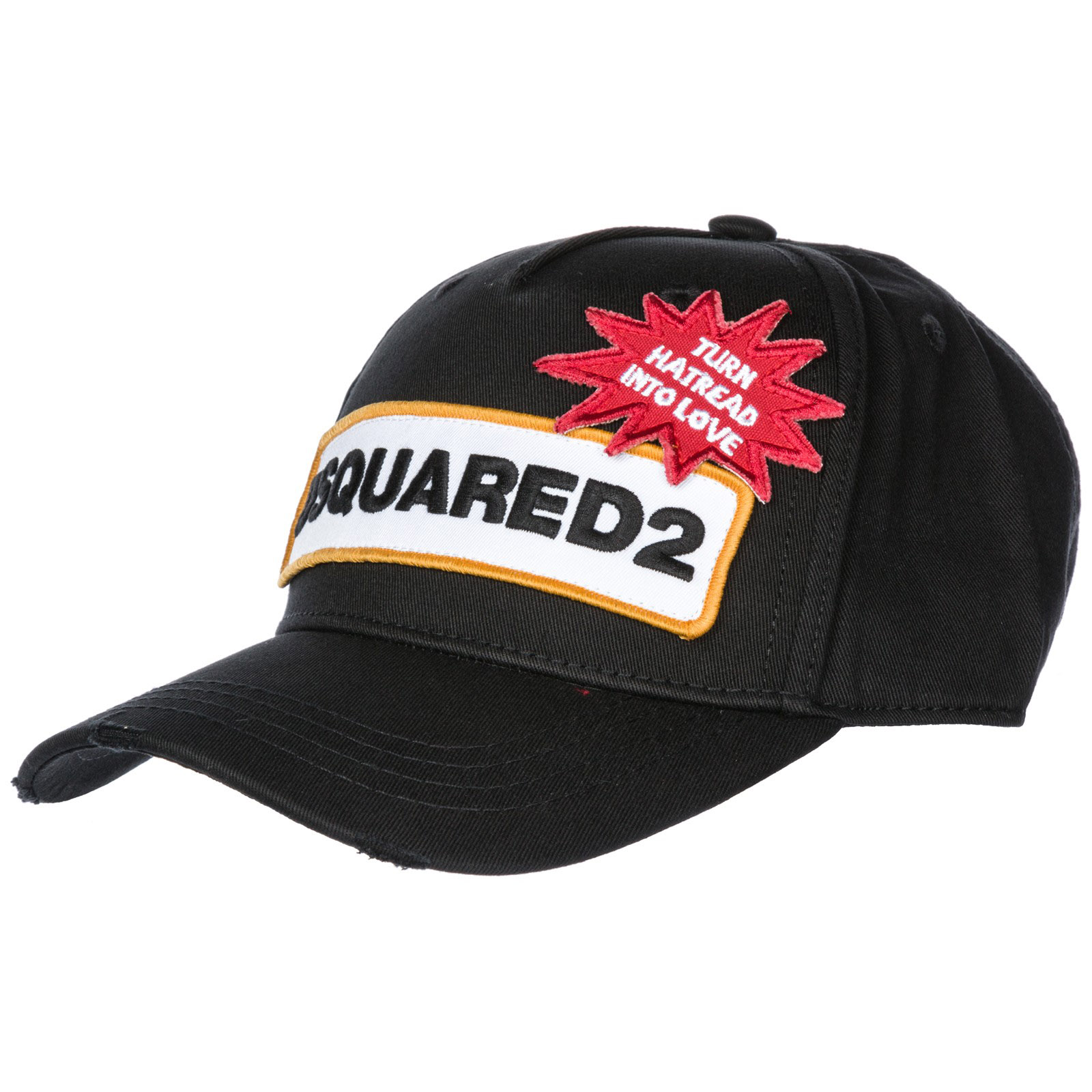 Baseball cap Dsquared2 D2 Patch BCM011705C000012124 nero  eeae4d104627