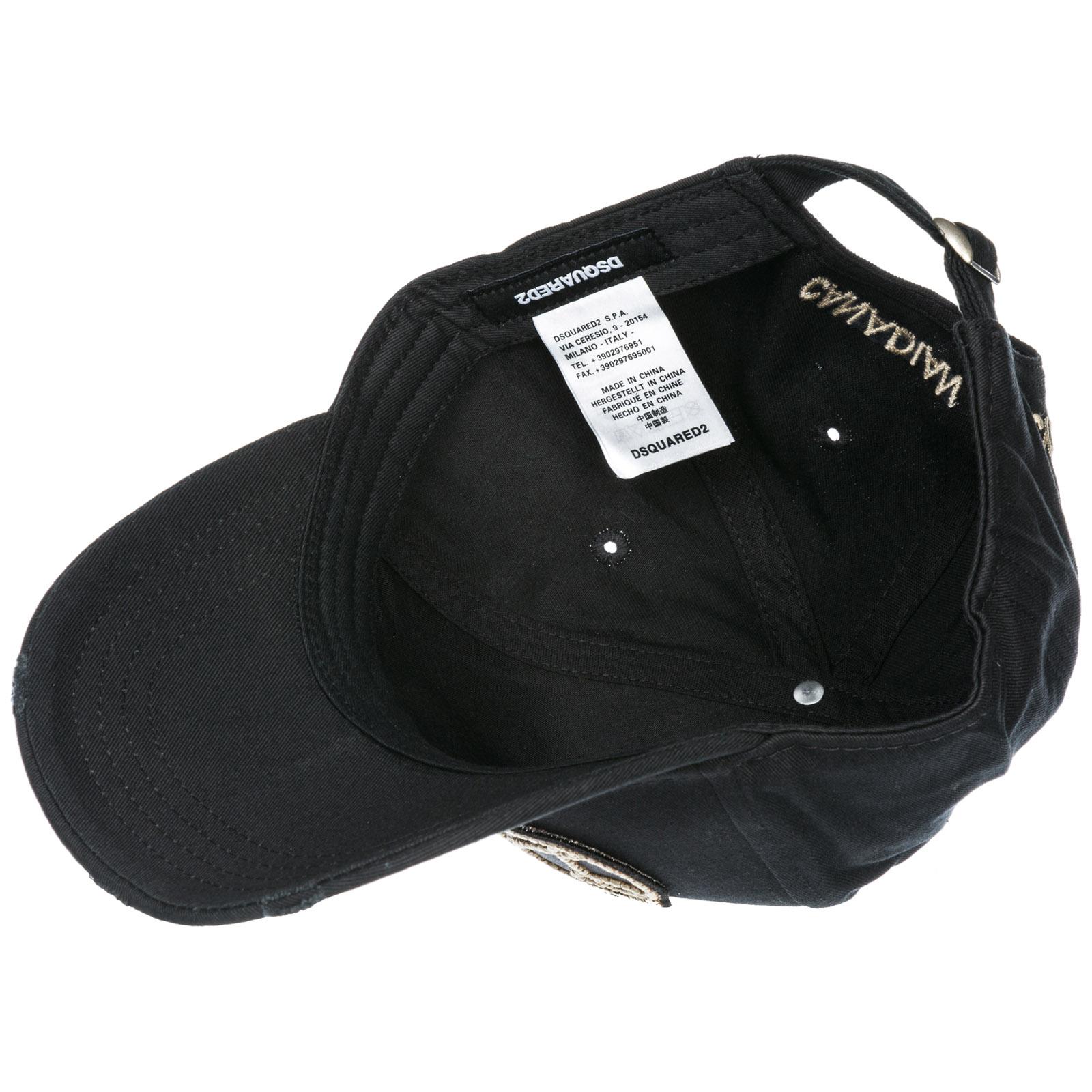 Cappello baseball Dsquared2 Cowboy BCM013605C000012124 nero  5b8cba456487