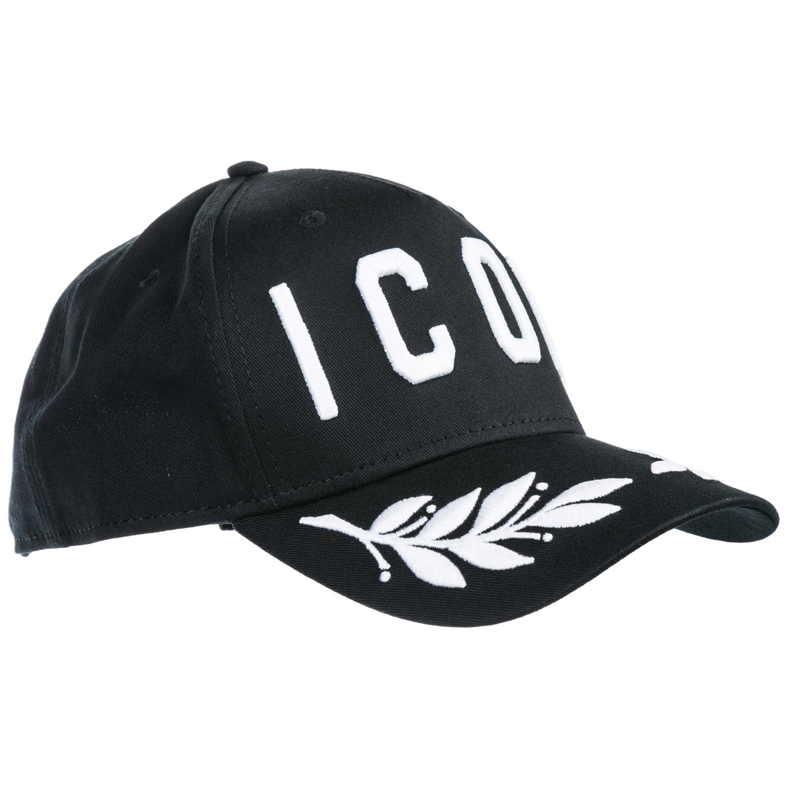 Cappello baseball Dsquared2 Icon BCM015905C00001M063 nero + bianco ... 68465305efcf