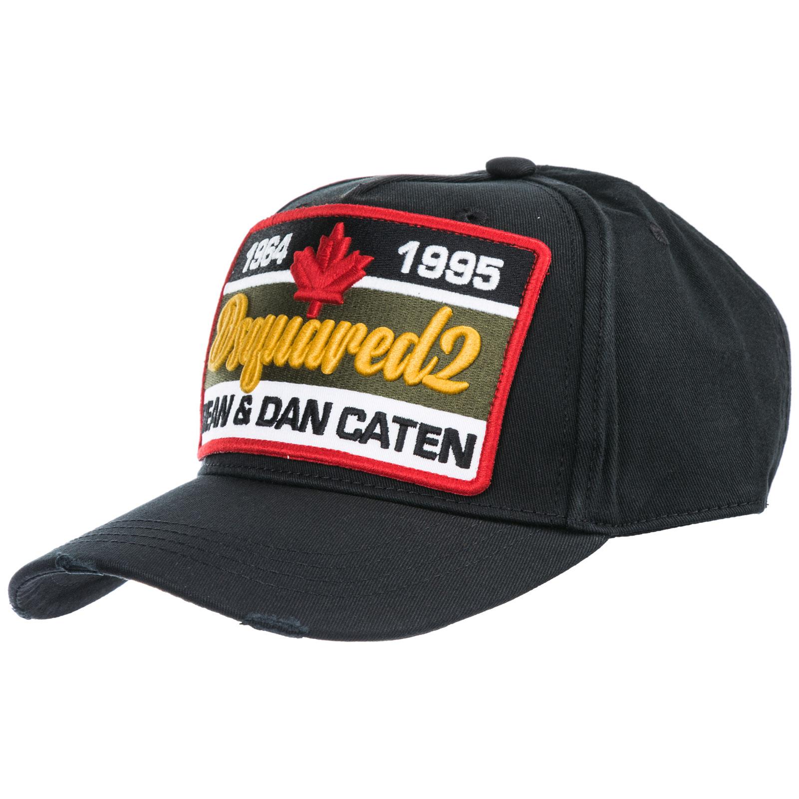 Dsquared2 Adjustable Men S Cotton Hat Baseball Cap In Black  b1b5f5d3e4ce