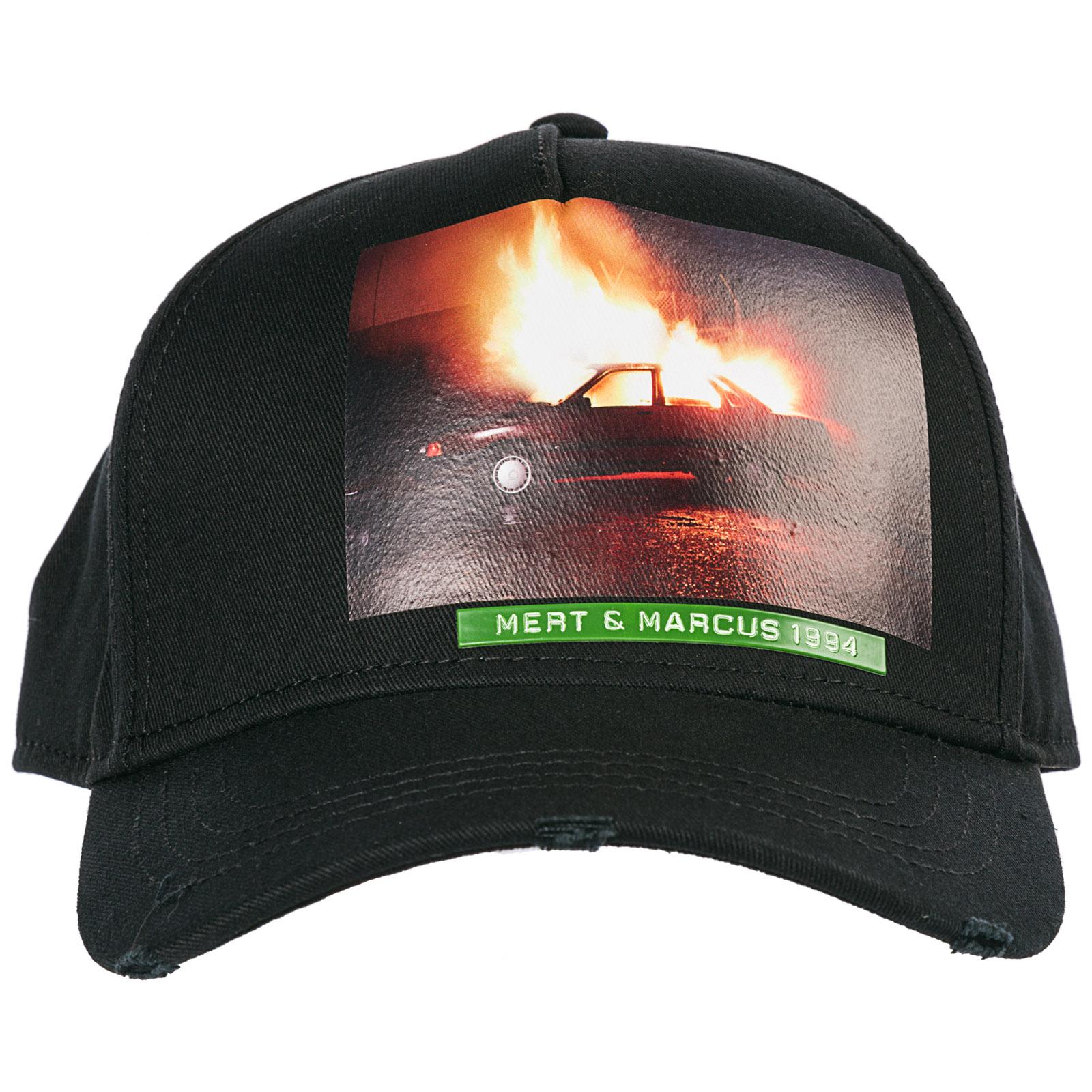 Cappello baseball Dsquared2 Mert   Marcus BCM020608C000012124 nero ... b6ac997b3482