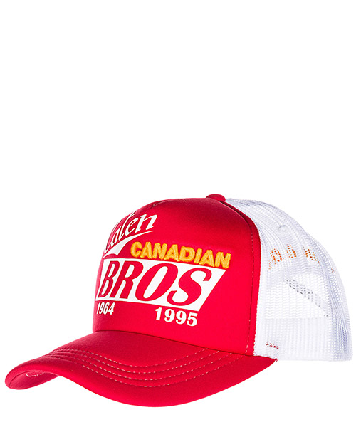 Casquette baseball Dsquared2 Caten Bros BCM001501Y00291M068 rosso - bianco