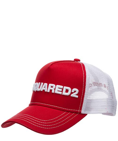 Baseball cap Dsquared2 BCM002813550001M818 rosso + bianco