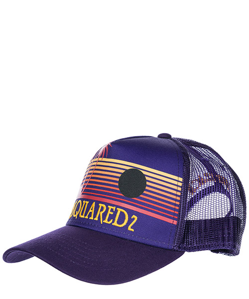Cappello baseball Dsquared2 Hawaiian Rocker BCM0048135500019201 viola