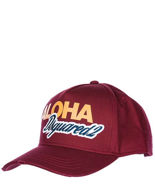 Cappello baseball Dsquared2 Aloha BCM005705C000014066 bordeaux