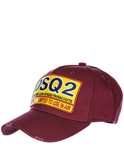 Baseball cap Dsquared2 DSQ2 BCM006405C000014075 bordeaux scuro