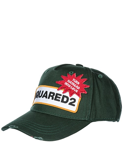 Cappello baseball Dsquared2 D2 Patch BCM011705C000018062 verde scuro