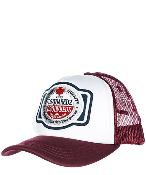 Cappello baseball Dsquared2 1995 BCM012801Y00291M1225 bordeaux + bianco