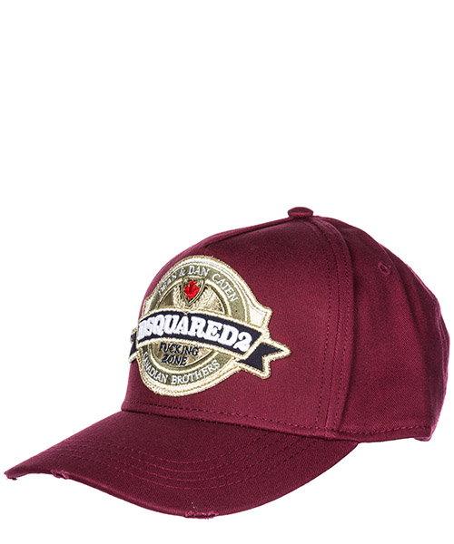 Baseball cap Dsquared2 Canadian Brothers BCM012905C000014066 bordeaux