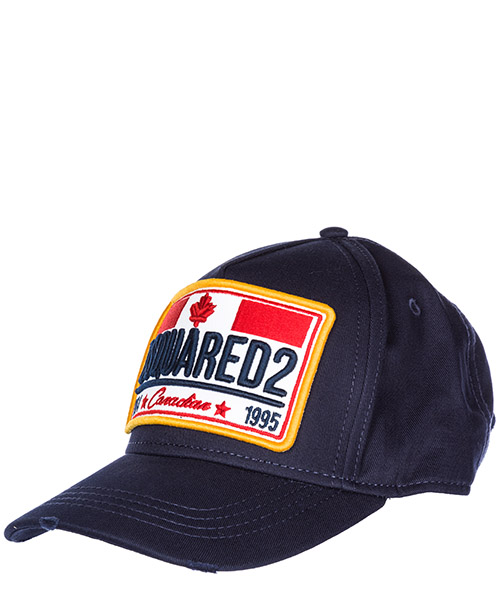 Cappello baseball Dsquared2 Canadian Patch BCM013505C000013073 navy
