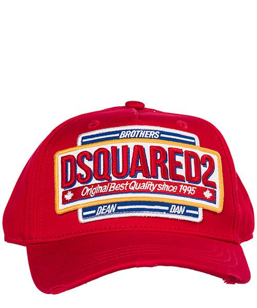 d6dfb1327c Cappello baseball Dsquared2 BCM020108C000014065 rosso Cappello berretto  regolabile uomo in cotone secondary image