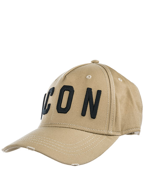 Hat Dsquared2 Icon BCM400105C00001M1489 kaki + nero