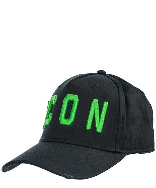 Baseball cap Dsquared2 Icon BCM400105C00001M603 nero + verde fluo