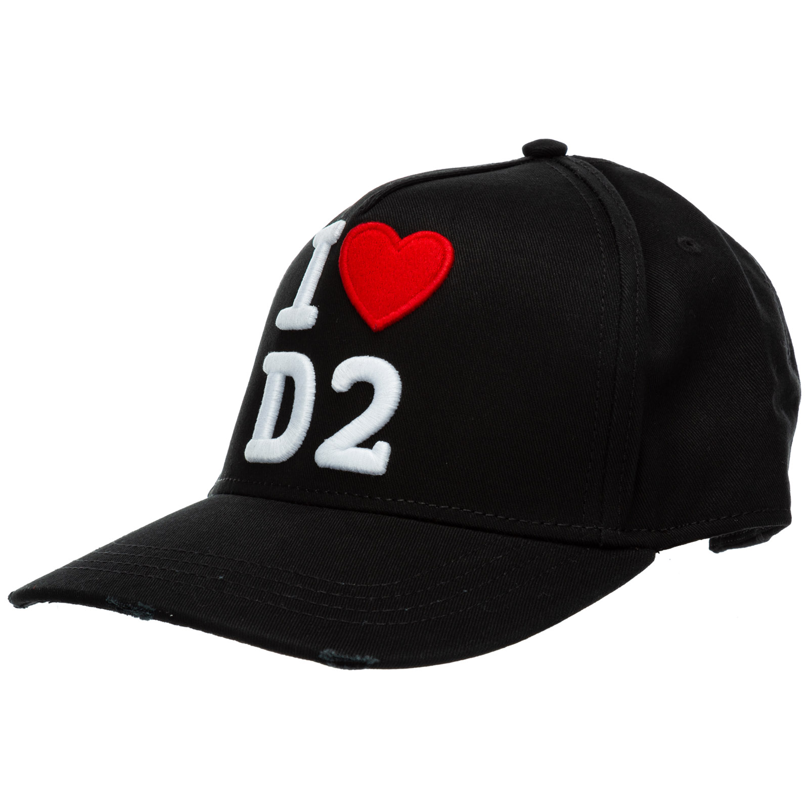 Dsquared2 Caps ADJUSTABLE MEN'S COTTON HAT BASEBALL CAP BASEBALL I LOVE D2