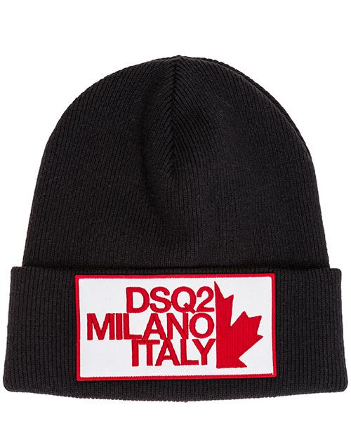 Beanie Dsquared2 Patch DSQ2 Milano KNM000101W024192124 nero
