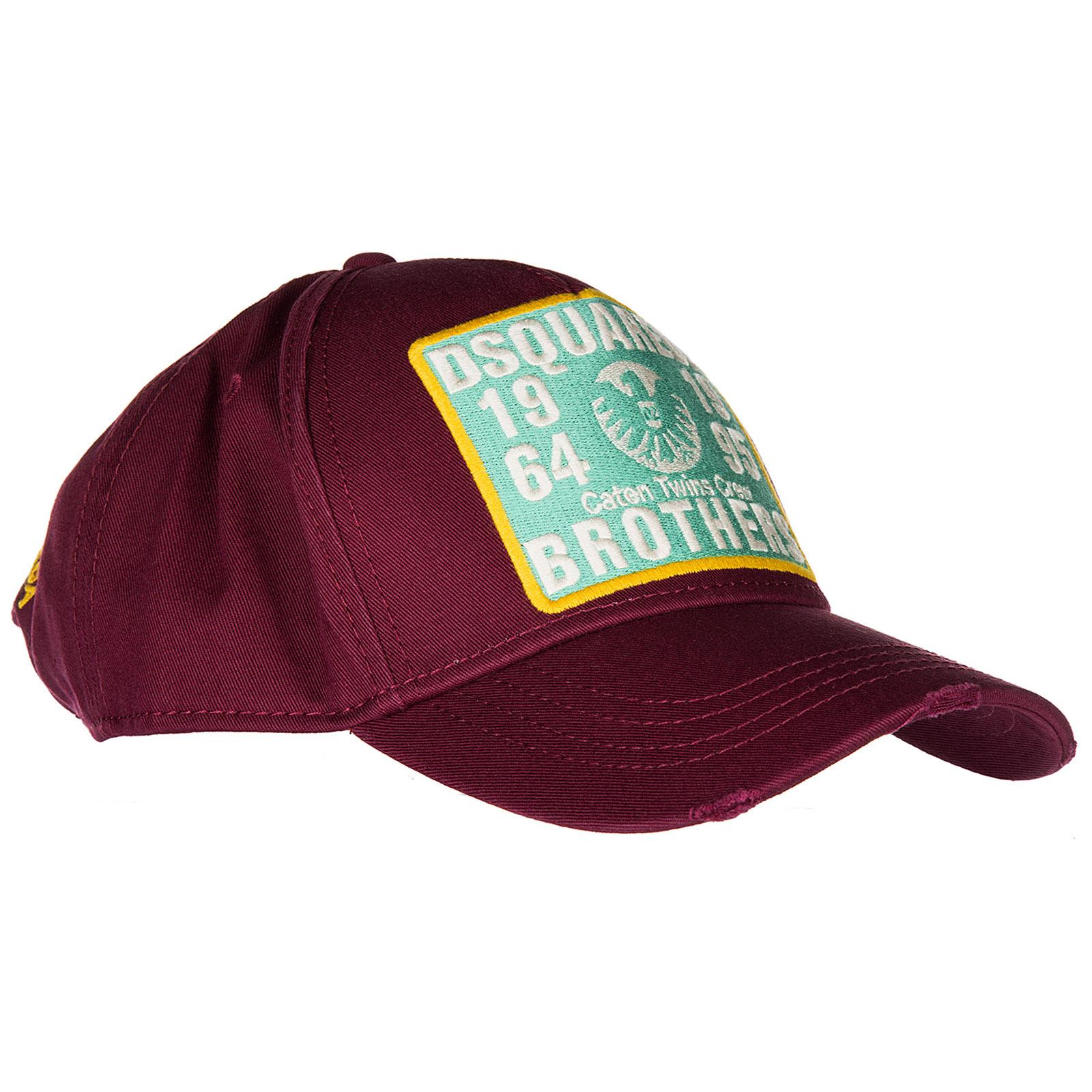Cappello baseball Dsquared2 S17BC1014 05C 4066 bordeaux   FRMODA.com dcaf6830eb29