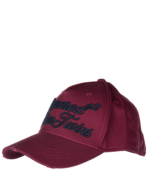 Baseball cap Dsquared2 S17BC1008 05C M111 bordeaux