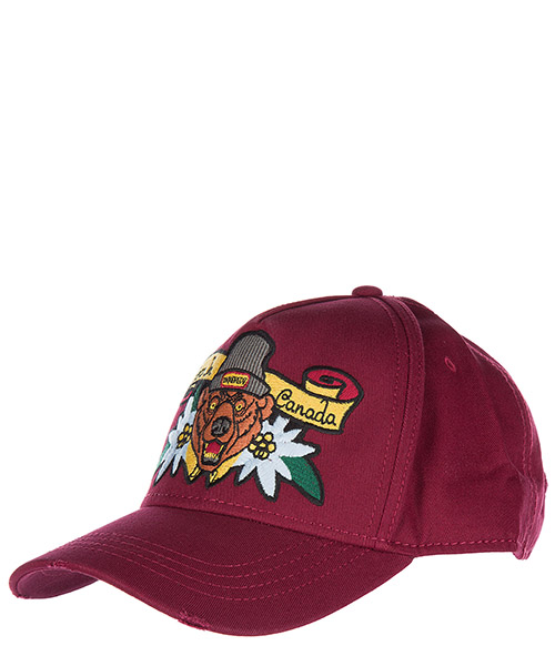 Baseball cap Dsquared2 W17BC402205C4066 bordeaux