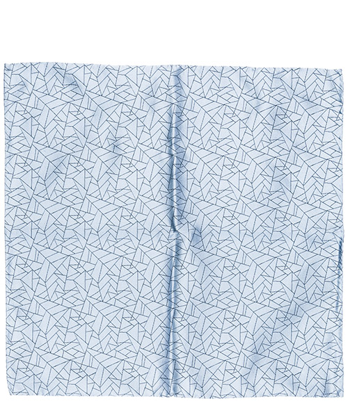 Pocket square Emporio Armani 3400339P32213030 blu