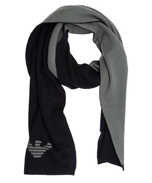 Wool scarf Emporio Armani 3H14091MB5ZF978 blu aquila grigio