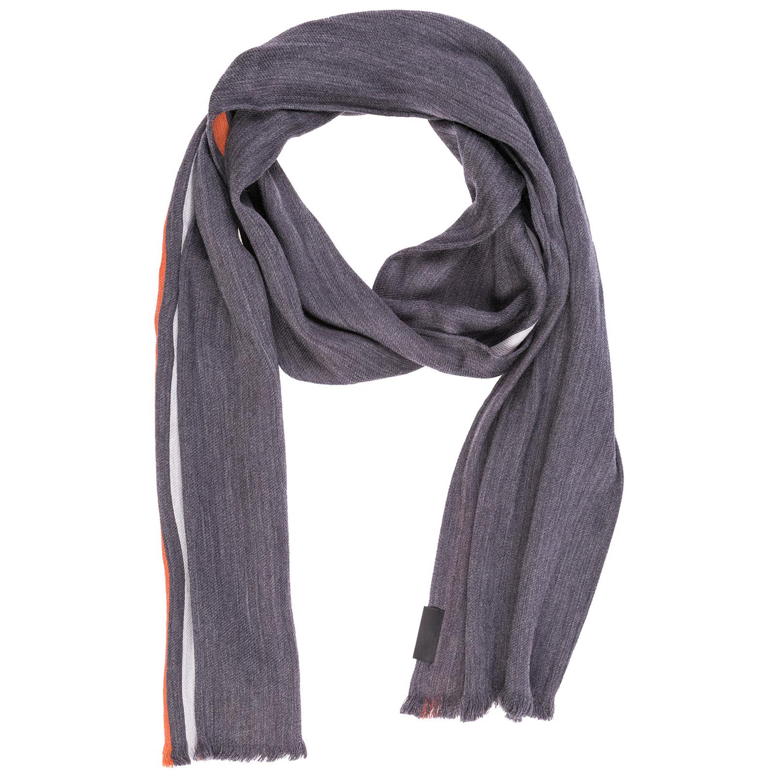 Sciarpa lana Emporio Armani 6250558A37621744 grey   orange   FRMODA.com 577a2e1b3c1