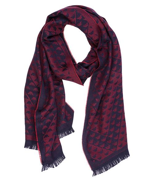 Sciarpa lana Emporio Armani 6250528A36700477 red / blue
