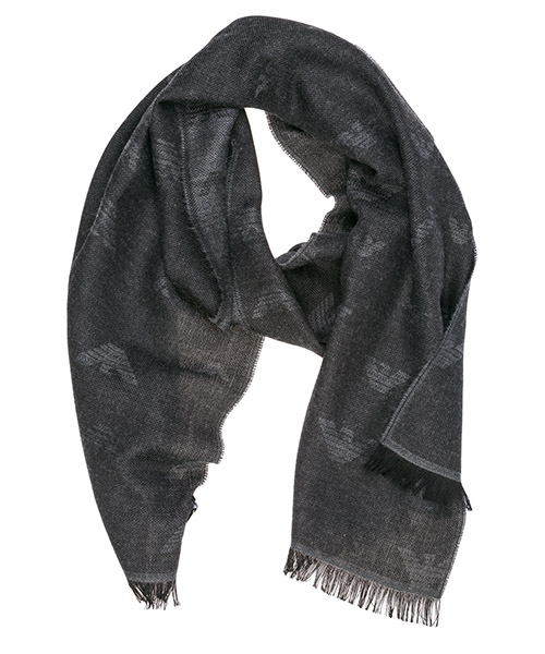 Wool scarf Emporio Armani 6250569A36100044 anthracite grey