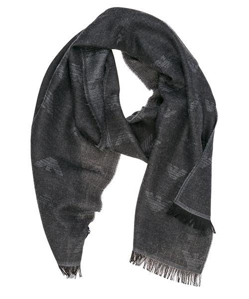 Bufandas de lana Emporio Armani 6250569A36100044 anthracite grey