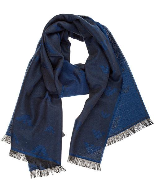Шерстяной шарф Emporio Armani 6250569A36162135 blue lagoon