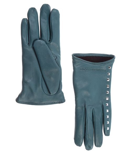 Gloves Emporio Armani 6341760A20209683 peacock green