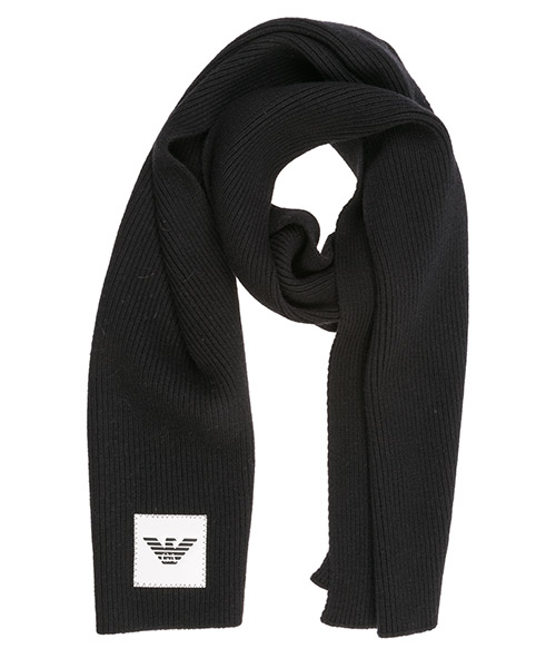 Écharpe en laine Emporio Armani 6g14061mc4z0999 nero