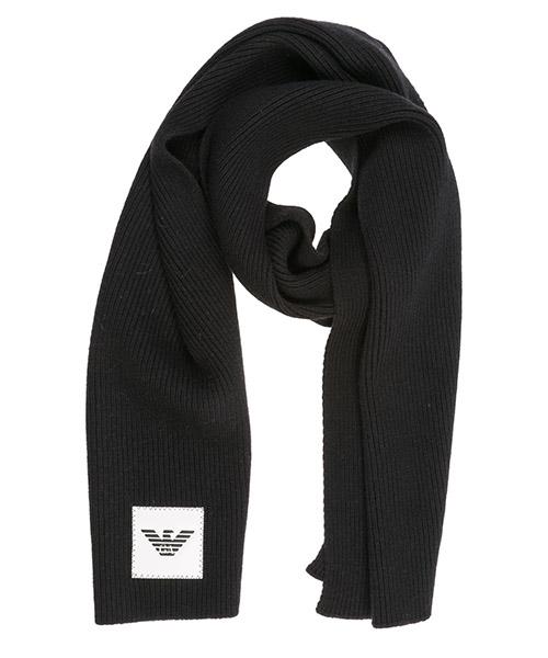 Wool scarf Emporio Armani 6g14061mc4z0999 nero