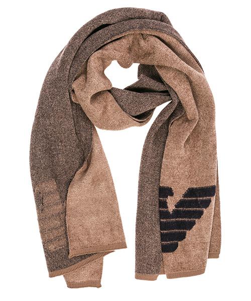 Bufanda de lana Emporio Armani 6G14121MUYZ0141 beige scuro