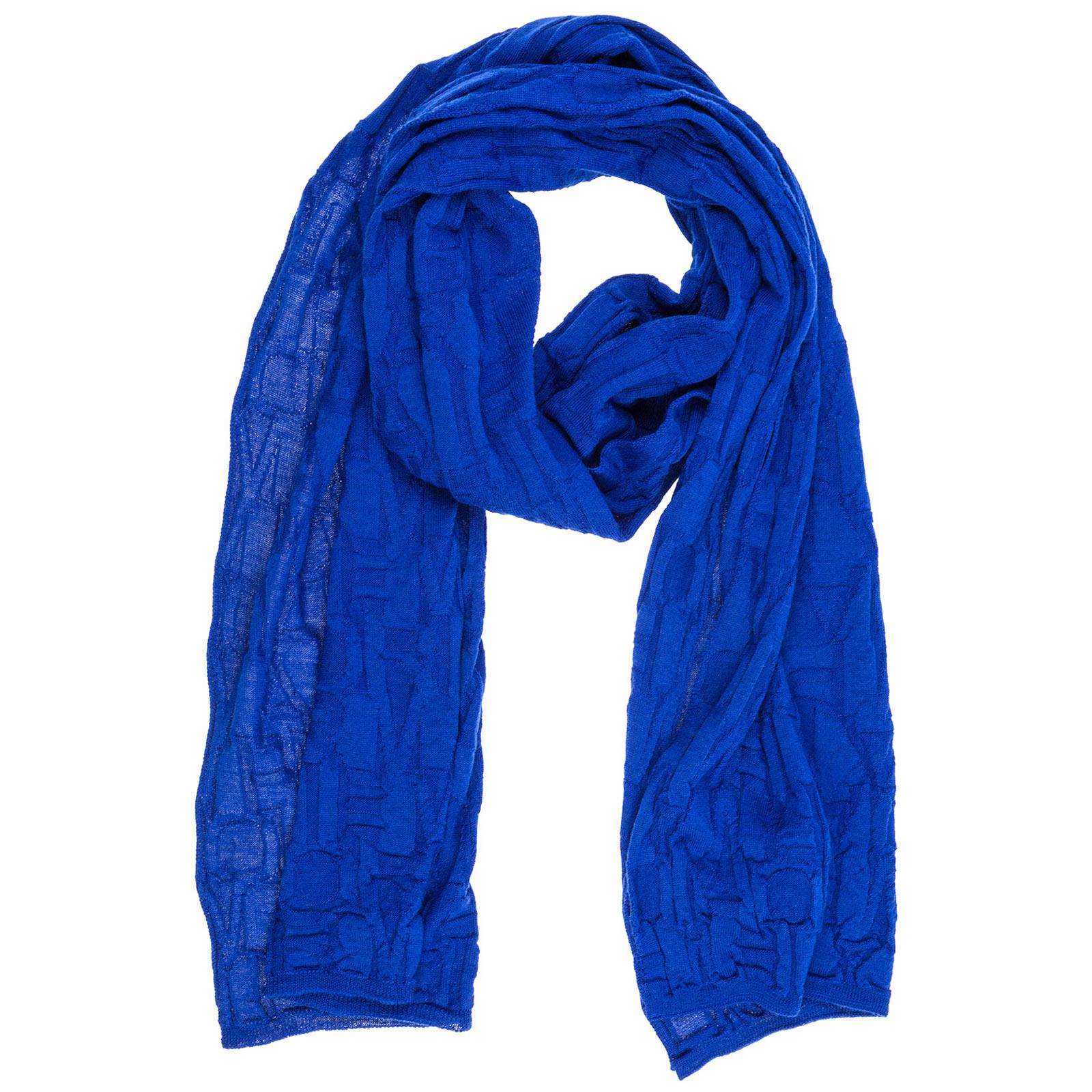 Écharpe en laine Emporio Armani 6Z14071MA5Z0952 bluette   FRMODA.com 0ec186be643