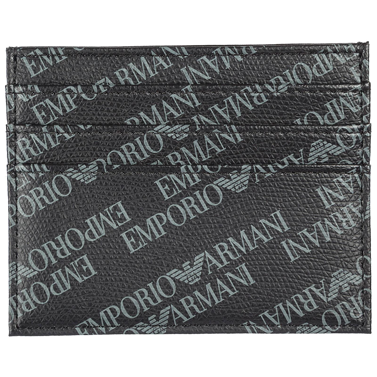 63c08388abcd Porta carte di credito Emporio Armani Y4R173YLO7E86526 nero   FRMODA.com