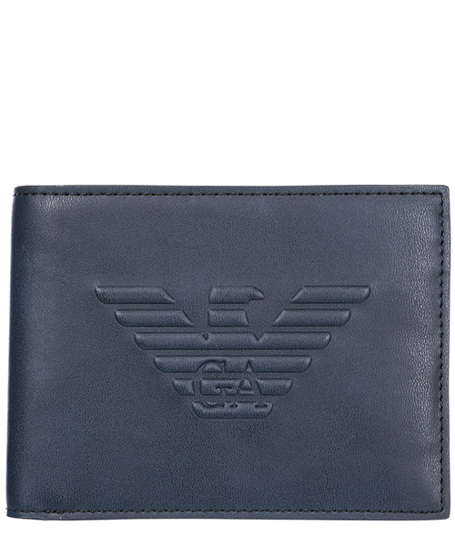 Portafoglio Emporio Armani Y4R166YG90J80033 navy blue